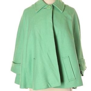 CAbi Carriage House Green Cape - Size S/M